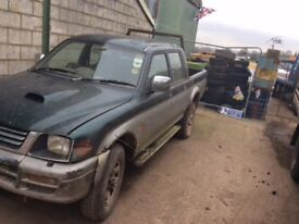 Mitsubishi l200 double cab headlight - breaking for parts spares