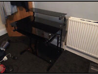 Black, Glass Computer desk for sale