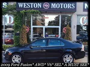 2009 Ford Fusion SEL* V6* AWD* ALLOY WHEELS* A MUST SEE*