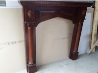 Large wooden fire surround