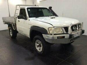 2009 Nissan Patrol GU 6 MY08 DX White 5 Speed Manual Cab Chassis Cardiff Lake Macquarie Area Preview