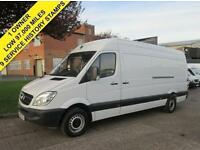 2010 60-REG MERCEDES SPRINTER 313CDI LWB HIGH ROOF. 1 OWNER. 9 SERVICE STAMPS.