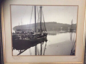 2 signed & framed photos by the late John Knickle of Lunenburg,