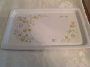 1971-74 Floral Bouquet Corning Ware Grill Serving Tray Flower