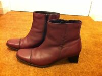 Ladies size 6 leather ankle boots from Pavers - excellent condition.