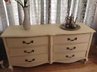 French Provincial Style 6 Drawer Dresser  T