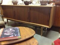 MID CENTURY WALNUT SIDEBOARD - Live In Retro!