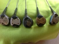 Set of 5 DUNLOP GOLF CLUBS - All Woods 1, 2, 3 and 4 (x2) - Collect Guildford GU1