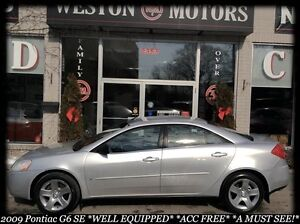 2009 Pontiac G6 SE*CERT&ETESTED*ACC FREE*FINANCE HERE!