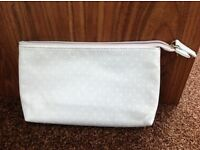 Light blue make-up bag