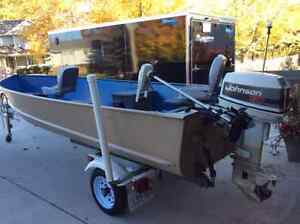 16 Foot Lund with 30 horse Johnson Motor and trolling motor