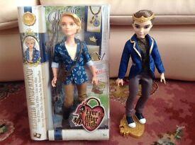 2 Ever After High Boy Dolls - Dexter Charming and Alistair Wonderland