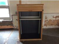 Oak Colour Storage Cupboard