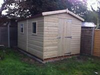 shed - brand new 8x6 £689, Tanalised wood - other styles & sizes available