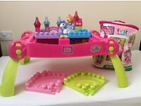 Mega Bloks First Builders Little Princess Fairytale Table.