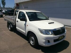 2011 Toyota Hilux KUN16R MY10 SR White 5 Speed Manual Cab Chassis Cardiff Lake Macquarie Area Preview