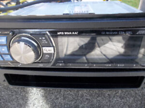 alpine car stereo and amp and 10 inch subs