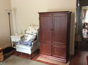 """Brand New Wooden Entertainment Unit 40""""L, 23""""W, 64""""H AVAILABLE"""