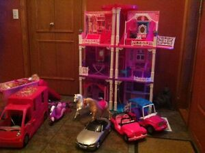HUGE Barbie lot - dream home, 5 vehicles, horses & 40+ barbies!