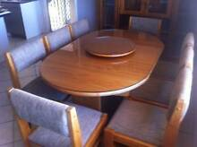 DINING EXTENSION TABLE (Glass Top) + 8 Chairs Heritage Park Logan Area Preview