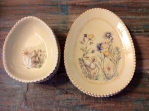 Pottery Barn Dish Set - Rabbit/Easter Spring Brand New