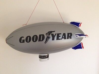 "Vintage Goodyear inflatable memorabilia blimp/airship scalextric 33""X11"" 84X28cm"