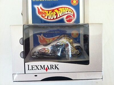 Hot Wheels Lexmark White Scorchin Scooter ()