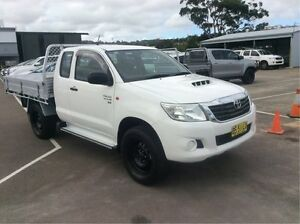 2012 Toyota Hilux KUN26R MY12 SR Xtra Cab White 5 Speed Manual Utility Cardiff Lake Macquarie Area Preview