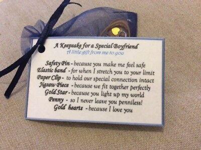I love you Keepsake Birthday valentines gift for my boyfriend gift for him men