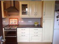 Cream kitchen and worktops