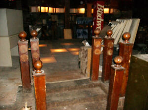 Wooden Posts From Around York Tavern Lighted Dance Floor$25each Kawartha Lakes Peterborough Area image 1