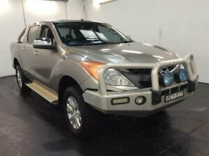 2013 Mazda BT-50 MY13 GT (4x4) Gold 6 Speed Automatic Dual Cab Utility Cardiff Lake Macquarie Area Preview