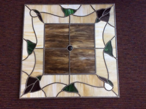 2' x 2' Stained Glass Light Panel