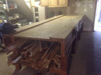 LARGE WOODEN WORKBENCH