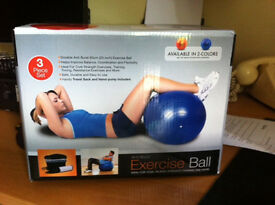 Exercise ball (blue)
