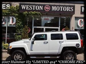 2007 Hummer H3 LIMITED 4X4* CHROME PKG* NAVI* LEATHER* SUNROOF*