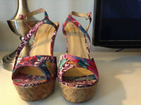 Size 11 floral wedges