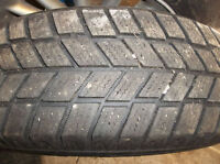 4 16/215/65 winter tires , lots of tread ,rims in good condition