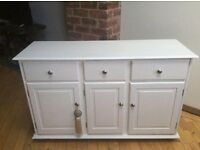 White Solid Pine wood Cabinet