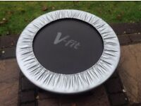 V-fit Trampoline Jogger - Exercise Home WorkOut Cardio - Black and Silver