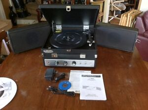Pyle Vintage Turntable Player, Bluetooth and Vinyl-MP3 Recording