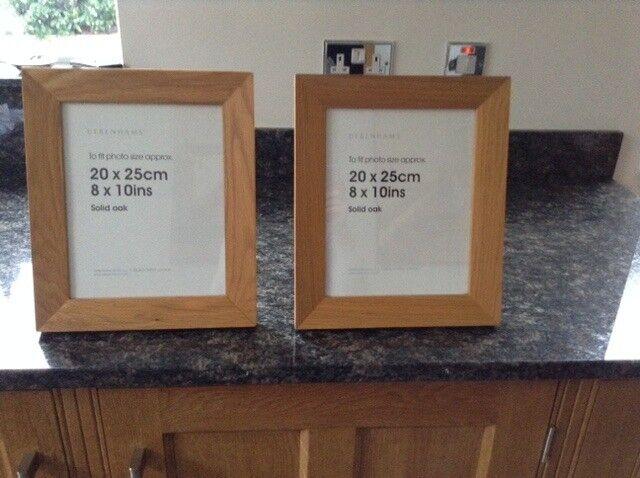 Pair Of Solid Oak Picture Frames 8 X 10 Inches In West Wickham