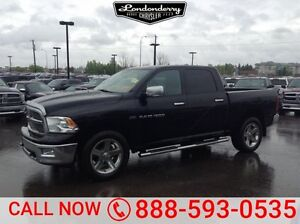 2012 Ram 1500 4WD CREWCAB BIGHORN Accident Free,  Bluetooth,  Re
