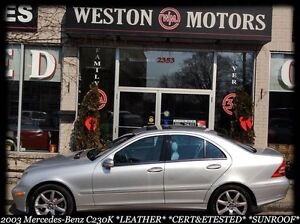 2003 Mercedes-Benz C-Class C230k*SUNROOF*LEATHER*CERT&ETESTED