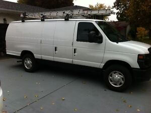 Great Work Van with LADDER RACK AND TRAILER HITCH