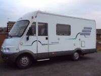 2001 HYMER B584. FIAT DUCATO CHASSIS. 2800cc. MANUAL. LEFT HAND DRIVE.
