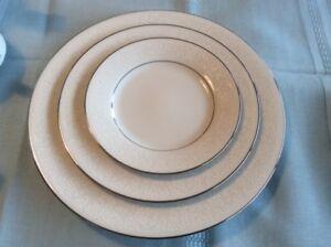 Noritake Tahoe Dishes, place setting of 8 with serving pieces