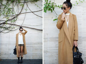 Topshop camel wool coat