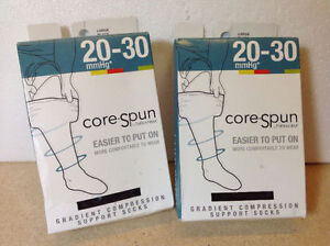 **NEW** Core Spun gradient compression socks by Therafirm - L