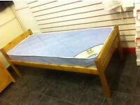 2.6 Solid Pine Bed Frame with Quality Mattress